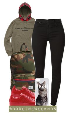 """""""11/2/15"""" by codeineweeknds ❤ liked on Polyvore featuring Comme des Garçons SHIRT and Herschel Supply Co."""