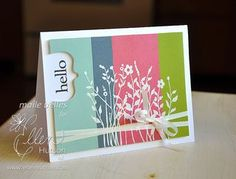 color blocking, heat embossing, and die cutting - great combination