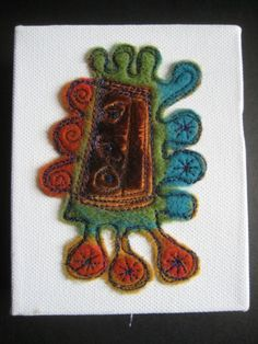Textile Art by dogdaisy92 on Etsy, $35.00