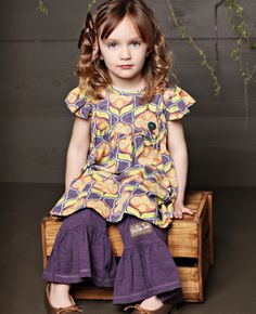 Matilda Jane. LOVE. kitten pearl dress with amethyst ruffles.  Our favorite outfit right now.
