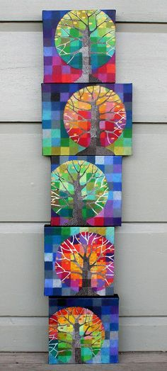 https://flic.kr/p/8f7bgr | little trees growing | New prints are now available.  More info here: rettg.blogspot.com.au/2015/02/little-trees-growing.html  I blogged about the originals here: rettg.blogspot.com/2010/07/growing.html The canvases measure 8x8 inches, and 8x10 inches.