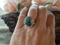 Native American Sterling Silver Turquoise by periwinkleantiques