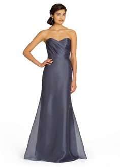 Graphite color and style Organza Bridesmaids and Special Occasion Dresses by Alvina Valenta - Style AV9382