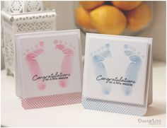 Using your hand for baby footprints