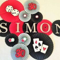 Jackpot! Make your casino night a winning celebration with this customized backdrop. You can bet it will be the hit of the party!  #casinonightparty #casinothemeparty #casino #gamenight #gamenightparty #vegasparty #vegastheme #pokernight #pokerparty #pokerparty #blackandred #paperfans #partydecoations #partyplanner #guysnight