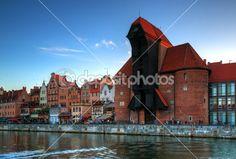 Żuraw na starym mieście w Gdańsku — Zdjęcie stockowe © fotorince74 #49855611
