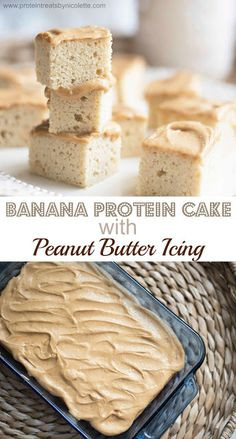 Protein Treats By Nicolette : Banana Protein Cake with Peanut Butter Icing