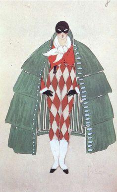 illustration : Arlequin by Lepape, 1920