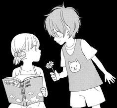 Shizuku and Haru - Tonari no Kaibutsu-kun