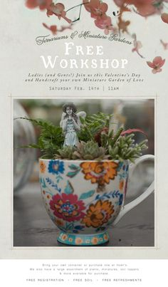 Join us for a free Valentine's Workshop! Click the image above to register online or call (419)865-6566