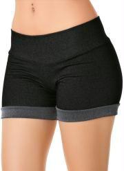 Short em Cotton (Jeans Escuro)