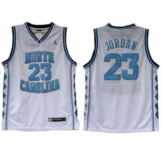 Michael Jordan College Jersey is the  23 home jersey of University of North  Carolina Tar e46c237a749