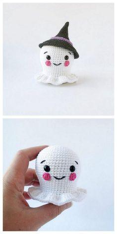 Crochet Teddy Bear With Free Patterns - Diy & Crafts Halloween Crochet Patterns, Crochet Toys Patterns, Amigurumi Patterns, Crochet Fall, Holiday Crochet, Diy Crochet, Plush Pattern, Free Pattern, Kawaii Crochet
