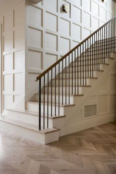 Looking for Staircase Design Inspiration? Check out our photo gallery of Modern … Looking for Staircase Design Inspiration? Check out our photo gallery of Modern Stair Railing Ideas. Stair Railing Railing Pin: 900 x 1349 Staircase Wall Decor, Stair Decor, Staircase Design, Staircase Ideas, Railing Ideas, Stairwell Decorating, Modern Stairs Design, Stair Design, Wall Design