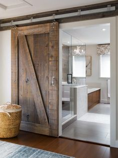 Bathrooms Design:Elegant How To Make Interior Sliding Barn Doors Home Designing With Door For Bathroom Attachment Id Diy Hardware Stainless Steel Style House Track Bypass Lock Rustic Farm barn door for bathroom #rusticbathrooms #bathroominteriordesign #homeinteriordesign
