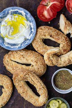 Lebanese Recipes, Vegan Recipes, Vegan Food, Bread Recipes, Palestinian Food, Bagel Recipe, Tasty Recipe, Mediterranean Dishes, Recipe Steps
