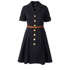 Orly Cotton short sleeve shirtdress in ottoman fabric. Rever collar and button through at centre front. Dress comes with a detachable leather belt.