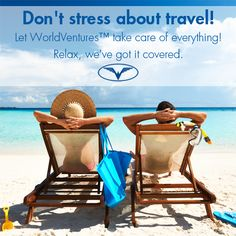 #WorldVentures Representatives provide stress-free travel accommodations that allow Members to travel the globe. Don't worry about your next trip, WorldVentures has it covered. For more information go to :http://fruitfulmultiplier.worldventures.biz/