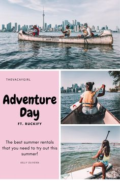 Are you having trouble coming up with ideas of fun adventures to do on the weekends? Look no further, Ruckify has got you covered with endless amounts of experiences and things to rent out for the day like paddle boards and canoes! You definitely won't be bored this summer! All Over The World, Around The Worlds, Paddle Board Rentals, Toronto Island, Summer Ray, Adventure Activities, Canoes, Amazing Adventures