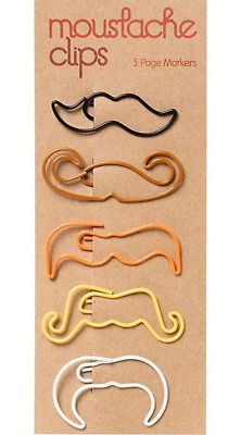 Shop quirky fun gifts at Paper Source! Find unique gifts with a sense of humor that are great for all occasions, and especially fun just because. Cool Office Supplies, School Supplies, Trombone, Wire Bookmarks, Mustache Party, Moustaches, Page Marker, Quirky Gifts, Paper Source