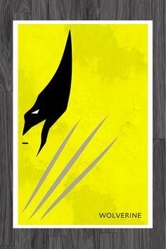 Minimalist X-MEN Art Poster of Wolverine 11x17. $14.99, via Etsy.