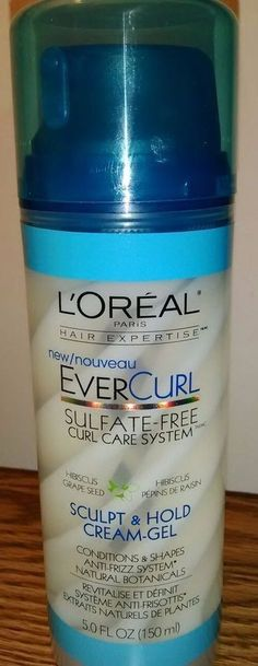 L'Oreal Paris Hair Expertise EverCurl Sculpt & Hold Cream Gel 5 oz  #LOrealParisHairExpertise