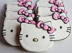 Cookies in hello kitty birthday goodies