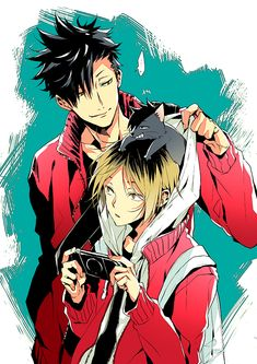 kuroo + kenma - HQ // ahhhhhhhh so kawaii