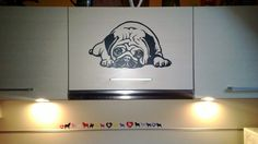Dog Decal Pug Snooze Vinyl Sticker Decal  Good for by PSIAKREW