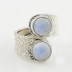 Moonstone Sterling Silver adjustable size 7-9 artisan crafted ring. DETAILS: * Moonstone Ring * Slightly Adjustable Size 7-9 * 5.8 g total weight * Set in SOLID .925 Sterling Silver * Stamped .925 * B