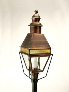 920P (AC) Antique Copper finish. Made from Solid Brass at Newstamp Lighting Corp in USA. See website for more info.