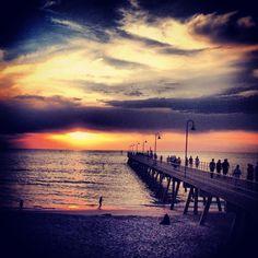 Glenelg Jetty, Adelaide, South Australia Coast Australia, Australia Living, South Australia, Sunset Sky, Sunrise, Pontoons, Kangaroo Island, Going Home, Us Travel
