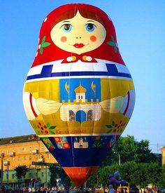 matryoshka hot air balloon Russian Nesting Dolls- Matriochka-Babushka www.matrioskas.es