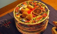 Christmas plates from Gien.