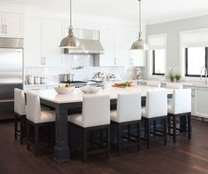 More ideas below: Rustic Large Kitchen Layout Design Farmhouse Large Kitchen Window Luxury Large Kitchen Island and Rug Modern Large Kitchen Decor Ideas Large Kitchen Floor Plans Remodel Kitchen Island Table, Large Kitchen Island, Island Bar, Kitchen Island With Seating For 6, Contemporary Kitchen Island, Kitchen Island Not Centered, Kitchen Seating, Contemporary Interior, Long Island