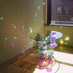 And btw, if you want to make this or something similar, the trick is dichroic! Oh and the shapes are dodecahedrons, icosahedrons, etc. lol Sacred geometry with color! Le Palace, Interior And Exterior, Interior Design, Creation Deco, Design Case, Cut Glass, My Room, My Dream Home, Decorative Bowls