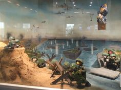 El desembarco osezno de Normandía. Tedy bear museum, Korea.