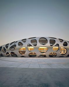Image 11 of 28 from gallery of Borisov Football Stadium / OFIS Architects. Photograph by OFIS Architects Architecture Design, Stadium Architecture, Organic Architecture, Futuristic Architecture, Beautiful Architecture, Contemporary Architecture, Building Architecture, Unusual Buildings, Interesting Buildings