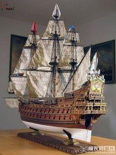 Model Sailing Ships, Old Sailing Ships, Model Ship Building, Boat Building, Mercedes Stern, Scale Model Ships, Hms Victory, Man Of War, Wooden Ship