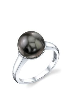 Sterling Silver 11mm Tahitian South Sea Pearl Ring