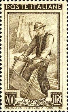 Emesso il 20 ottobre 1950 200 L. - Trentino Alto Adige, il legname