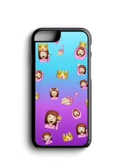 Fashion Princess Emoji Pattern Phone Case iPhone Samsung