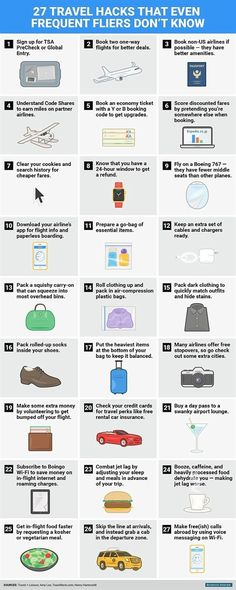 For even the most seasoned travellers, long-haul flights can be stressful. Business Insider has compiled a list of handy travel hacks to ensure your journey is as smooth as possible.  #TravelTipsIdeas