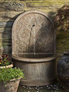 Corsini Cast Stone Wall Fountain