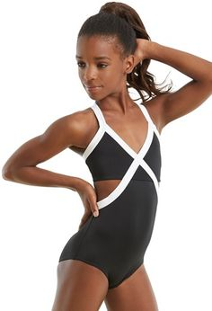 b67239f11f Contrast Triangle Top Leotard Dance Wear Solutions