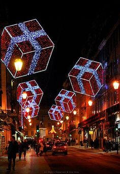 Travel and See the World — Christmas time in Lisbon, Portugal. Christmas In The City, Magical Christmas, Christmas Scenes, Noel Christmas, Outdoor Christmas, All Things Christmas, Beautiful Christmas, Winter Christmas, Christmas Light Installation