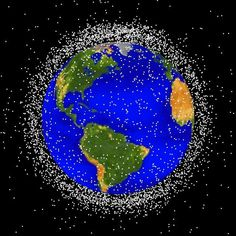 """Has anyone thought about a solar powered electromagnet to collect or grab any of this """"space junk""""? Just  a thought. DN"""