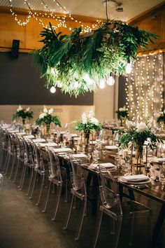 You won't wanna miss this Australian wedding with industrial decor, suspended greenery and all white bridesmaid dresses! #elegantrusticweddingdecor #greeneryfilledweddingreceptions #industrialweddingvenuesaustralia #modernweddingsignage