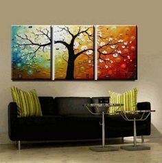 Wall Paintings  - Pin it :-) Follow us, CLICK IMAGE TWICE for Pricing and Info . SEE A LARGER SELECTION of wall paintings at http://azgiftideas.com/product-category/wall-paintings/  - gift ideas, house warming gift ideas, home decor - Abstract Wall Canvas Art Sets Painting for Home Decoration 100% Hand Painted Oil Painting Modern Art Large Canvas Wall Art Free Shipping 4 P...