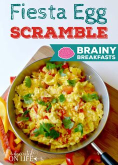 "One of our favorites is a fiesta egg scramble. My kids love Mexican food night and so we started doing the same ""feel"" for our breakfasts."
